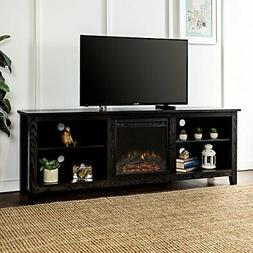 Electric Fireplace TV Stand Heater Media Center 70 Inch Blac