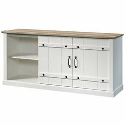 """Sauder Engineered Wood TV Stand For TVs Up To 70"""" in Soft Wh"""