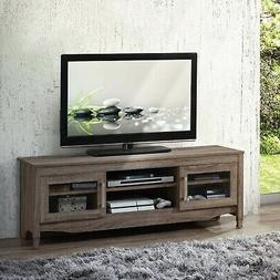 Entertainment Center TV Stand with Storage, Shelves TV's Up