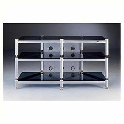 """Entertainment Center Iron TV Stands 50"""" Silver and Black Sta"""