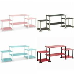 TV Stand Modern Entertainment Center Shelf Shelving Bench Ca