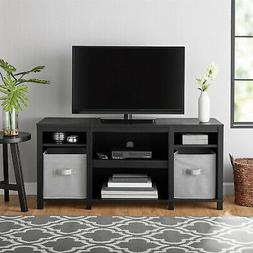 Entertainment Cubby TV Stand, up to 50 inch TV, Black Oak Wo