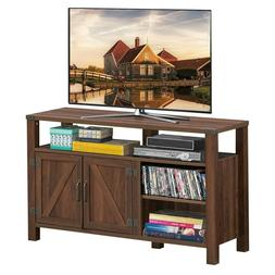 Entertainment TV Stand with Storage Cabinet & Shelf