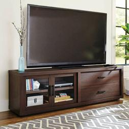 Entertainment Unit Center TV Stand Large Storage 2 Drawers 8