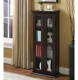 "W. Designs 41"" Espresso Wood Media Tower Cabinet"