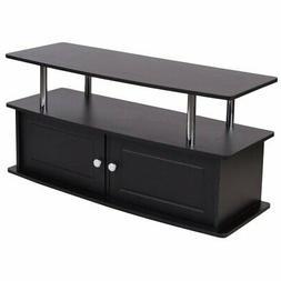 Flash Furniture Evanston Black TV Stand with Shelves, Cabine