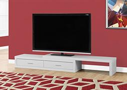 "Monarch Expandable TV Stand, White, 60"" to 98"""