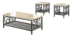 Homelegance Fairhope 3-Piece Occasional Table Set with Metal