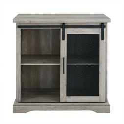 Farmhouse Accent Console Cabinet Buffet Bar Storage Sliding