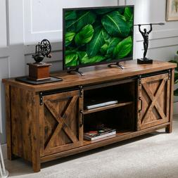 """Farmhouse Sliding Barn Door TV Stand for up to 65"""" Televisio"""
