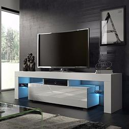 Homgrace TV stand Modern LED TV Cabinets Home Decorative Ent