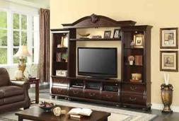 ACME Faysnow Entertainment Center, Dark Cherry  Dark Cherry