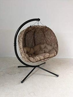 Flower House FHPC100-TV Pumpkin Chair, Tan Vine Hanging Love