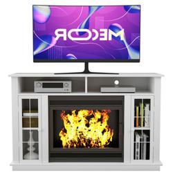 Fireplace Mantel Surround TV Stand Unit Console w/ Storage f