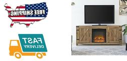 "Pemberly Row 58"" Fireplace TV Stand in Barnwood"