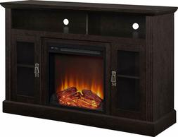 Fireplace TV stand Electric Heater storage ShelvesTVs up to