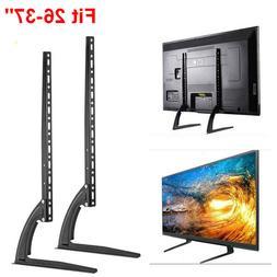 2X Universal Tabletop TV Stand Pedestal Mounts Monitor Riser
