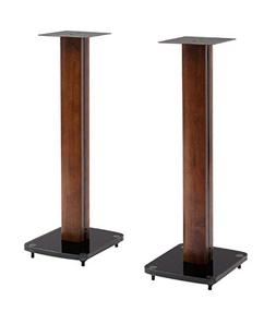 TransDeco Fixed Height Glass and Steel Speaker Stands, 30-In