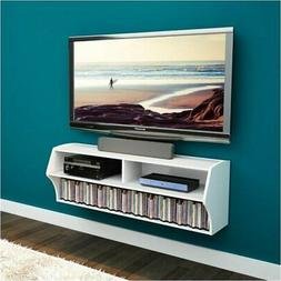 """Hawthorne Collections 49"""" Floating TV Stand in White"""