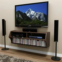 """Hawthorne Collections 49"""" Floating TV Stand in Espresso"""