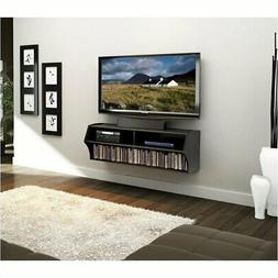 """Hawthorne Collections 49"""" Floating TV Stand in Black"""