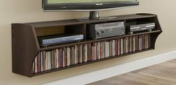 Floating TV Stand Wall Mounted 2 Shelves Home Office Audio V