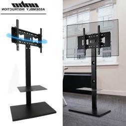 Floor TV Stand Swivel Bracket Plasma LCD LED OLED Flat Two A