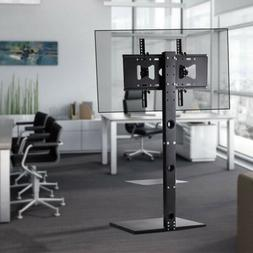 "Floor TV Stand with Tilt & Swivel Mount Bracket for 32""-65 F"