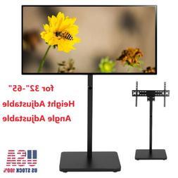 Floor Universal Adjustable TV Stand Swivel Mount Flat Screen