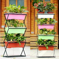 iKayaa Folding Plant Stand Garden Yard Planter Flower Pots S