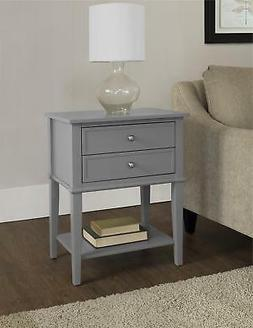 Franklin Accent Table and Coffee Table, Gray