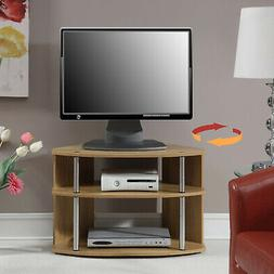 Full Swivel TV Stand Stainless Steel Chrome Poles Home 3-Tie