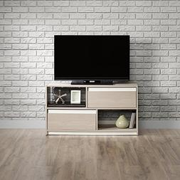 Sauder 417119 Square 1 TV Stand, Grey Ash Finish, Holds up t