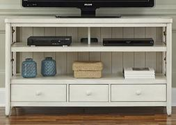 Liberty Furniture Dockside II Entertainment TV Console, Whit