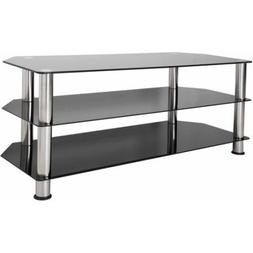 Furniture Home Indoor Black Gl Floor Stand Chrome Legs Fo