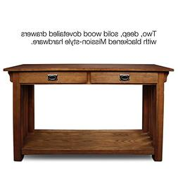 Leick Furniture Mission Console Table with Drawers and Shelf