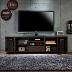 "Furniture of America Gamora 70"" Industrial TV Stand in Vinta"