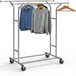 Simple Houseware Clothing Garment Rack Commercial Grade Doub