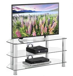 Glass Floor Modern TV Stand for up to 50 inch LED LCD