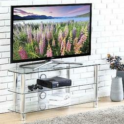 FITUEYES Glass Floor TV Stand for up to 50 inch Samsung Vizi