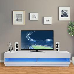 """71"""" High Gloss LED TV Cabinet Stand Entertainment Center Sto"""