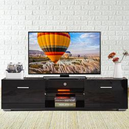 gloss tv stand unit cabinet