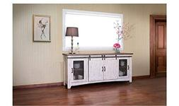 "Crafters and Weavers Granville White 80"" TV Stand / Sideboar"