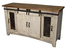 """Crafters and Weavers Granville White 60"""" TV Stand / Sideboar"""