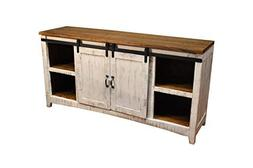 """Crafters and Weavers Granville White 67"""" TV Stand / Sideboar"""