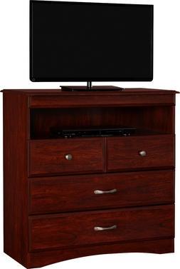 Essential Home Grayson Highboy TV Stand - Cherry Free Shippi