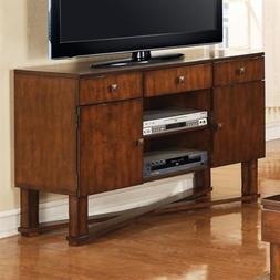 Griffin Hardwood & Veneer Flat Screen TV Stand in Cherry