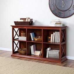 Belham Living Hampton TV Stand Bookcase - Cherry