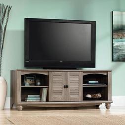 Sauder Harbor View Salt Oak Entertainment Credenza for TVs u