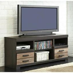 Harlinton Warm Gray LG TV Stand w Fireplace Option